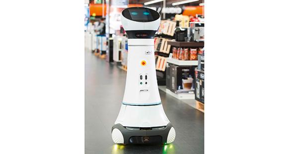 Roboter Paul hilft Saturn-Kunden bei der Orientierung und bringt sie in die gewünschte Abteilung