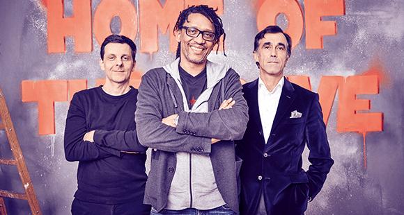 Kreative Unternehmer (v. l): Bernd Heusinger, Marcel Loko und Martin Blach.