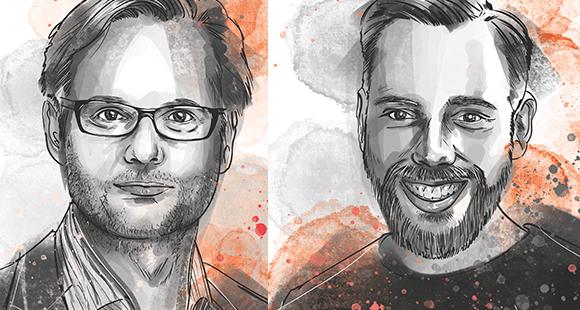 Dr. Birger Venn-Hein (l.) und Victor Thoma (r.) verantworten das Innovation Lab bei ERGO Digital Ventures