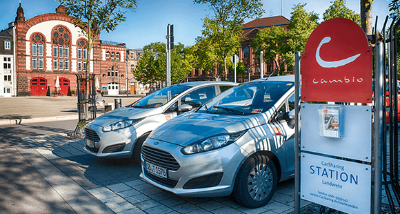 Station des Carsharing-Anbieters Cambio