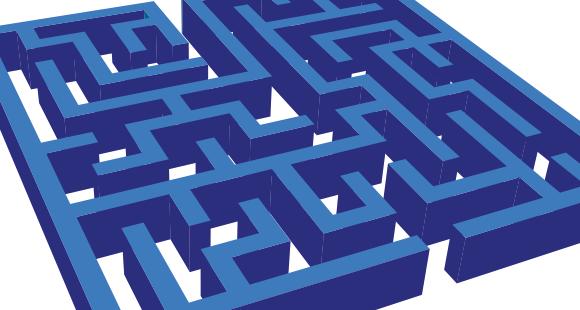 Rechts oder links? Die Entscheidungsfindung des Kunden erinnert an ein Labyrinth
