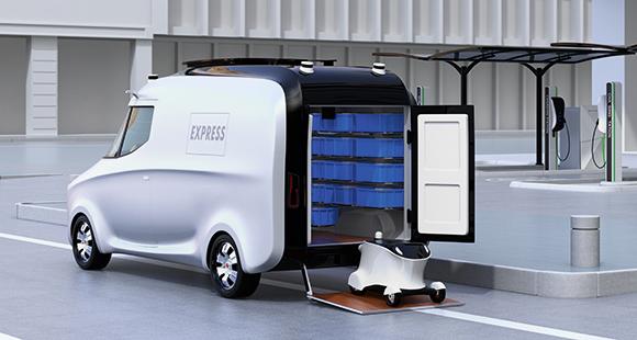 Intelligenter Service: Drohnen und autonome Fahrzeuge übernehmen Logistikdienstleistungen