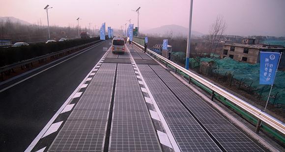Sonnenstraße: In China werden Straßen mit Photovoltaikanalagen getestet