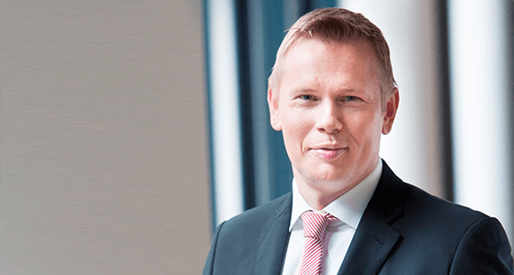 """Fabian von Löbbecke: Vorstandsvorsitzender der Talanx Pensionsmanagement AG und mitverantwortlich für """"Die Deutsche Betriebsrente"""", die Konsortiallösung für das Sozialpartnermodell von Talanx und Zurich."""