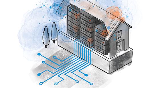 Illustration von einem Rechenzentrum