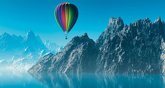 Auch Heißluftballons gehören zum Angebot von Leasinggesellschaften