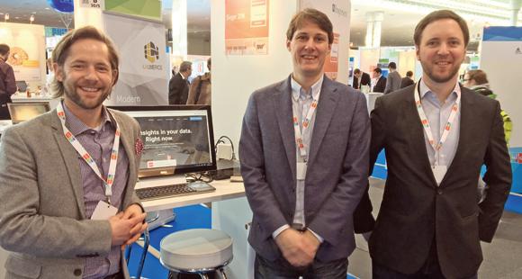 Inspirient-Gründer stellen ihr Produkt vor: Dr. Guillaume Aimetti, Christoph Neumann, Dr. Georg Wittenburg (v.l.)