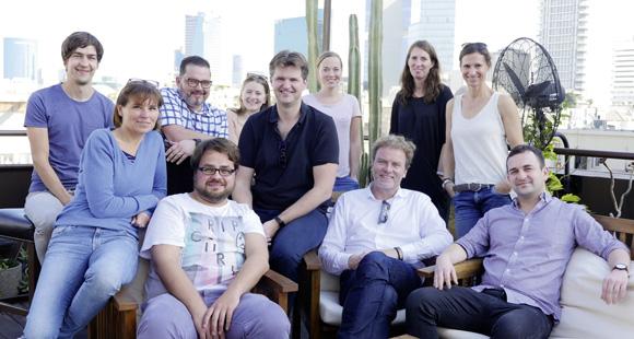 Das Redaktionsteam des DUB UNTERNEHMER-Magazins in Israel