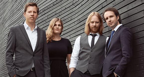 innosabi-Gründerteam: Jan Fischer, Catharina van Delden, Hans-Peter Heid, Moritz Wurfbaum