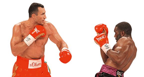 Treffer bei Bryant Jennings: Klitschko im Kampf. Wesentlicher Baustein? Willensstärke – auch als Unternehmer