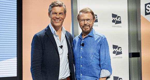 Stets auf der Suche nach neuen Formaten: ABBA-Gründungsmitglied Björn Ulvaeus (hier mit Frank Briegmann, President und CEO von Universal Music Central Europe (l.)).