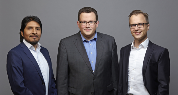 Gehen Datensätzen auf den Grund: Adrian Silisque, Torben Gerkensmeyer und Dr. Jan Gerken (v. l.)