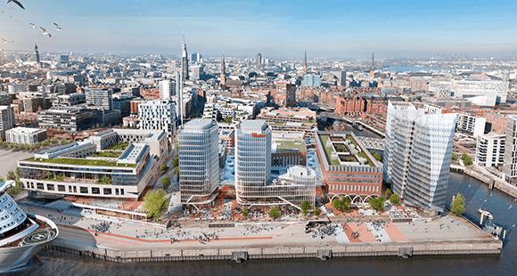 In der HafenCity soll eines der modernsten Stadtquartiere weltweit entstehen.