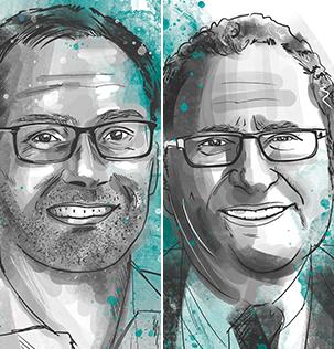 Christophe Hocquet von Brille24 und Jorge Marx Gómez von der Carl von Ossietzky Universität Oldenburg