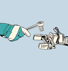 Arbeiten Mensch und Maschine zusammen, bringen beide ihre Fähigkeiten ein. Im Interview erzählt Albrecht Hoene von KUKA