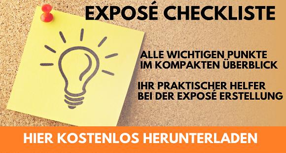 Checkliste: Exposé erstellen