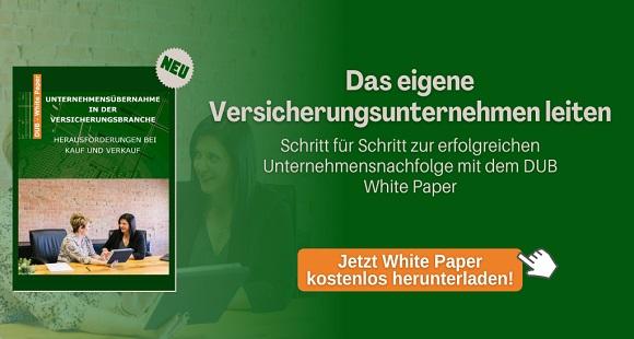 DUB Whitepaper: Die Übernahme eines Versicherungsunternehmens Schritt für Schritt umsetzen