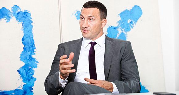 Wladimir Klitschko im Gespräch mit dem DUB UNTERNEHMER-Magazin