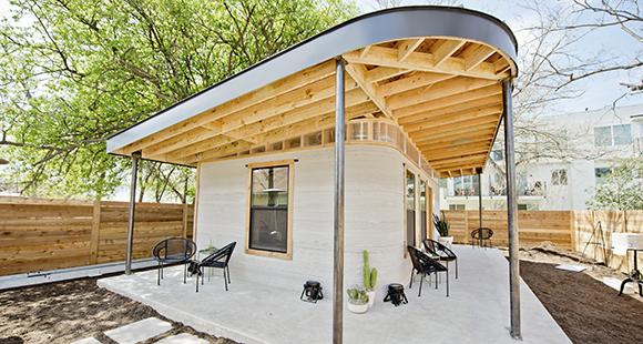Das texanische Start-up ICON hat ein gedrucktes Haus vorgestellt