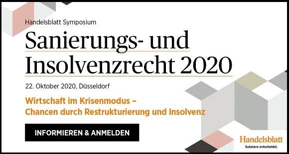 Handelsblatt Symposium: Sanierungs- und Insolvenzrecht 2020