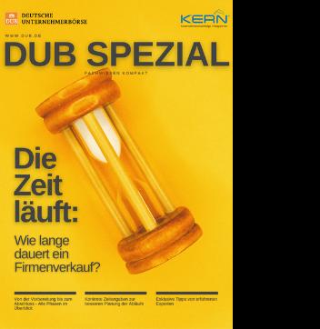White Paper Cover: DUB SPEZIAL - Wie lange dauert ein Firmenverkauf?