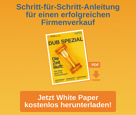 """DUB White Paper """"Die Zeit läuft – Wie lange dauert ein Firmenverkauf?"""""""