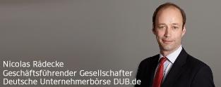 Unternehmensnachfolge Nicolas Rädecke